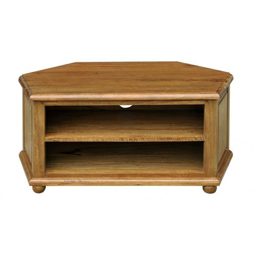 Asian Solid Mango Wood Corner TV Unit