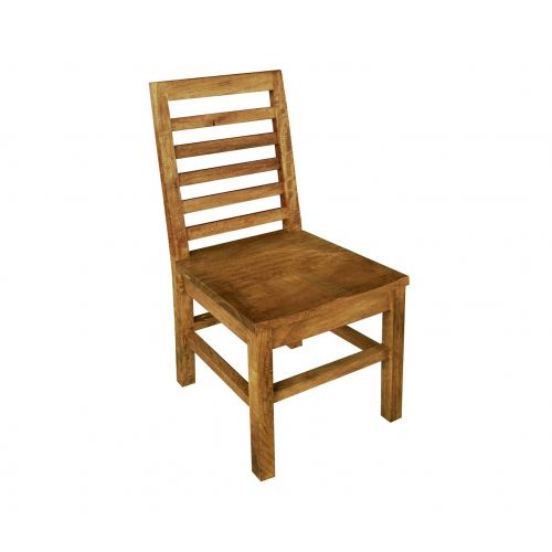 Asian Solid Mango Wood Dining Chair