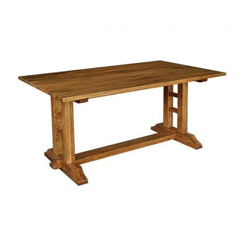 Asian Solid Mango Wood Large Refectory Dining Table