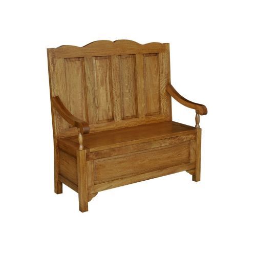 Asian Solid Mango Wood Monks Bench