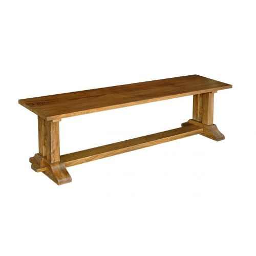 Asian Solid Mango Wood Refectory Dining Bench