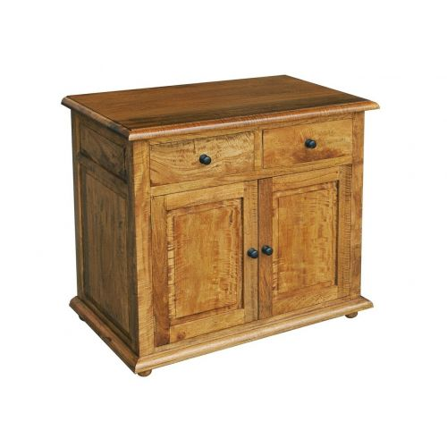 Asian Solid Mango Wood Small 2 Door Sideboard