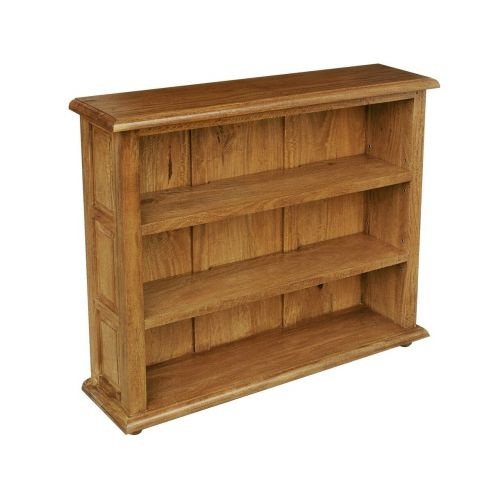Asian Solid Mango Wood Small Bookcase