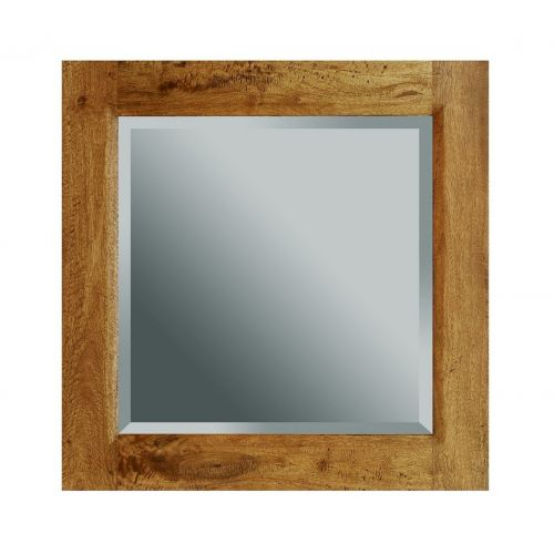 Asian Solid Mango Wood Small Wall Mirror