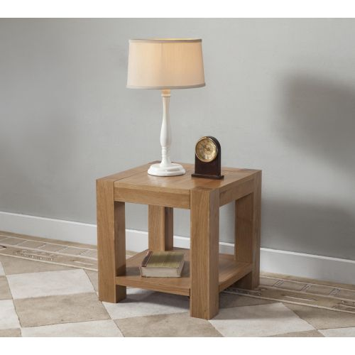 Aylesbury Contemporary Light Oak Lamp Table