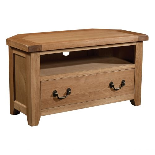 Buttermere Light Oak Corner TV Unit