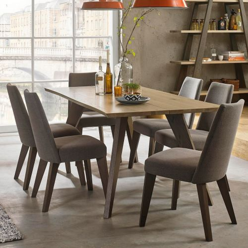 Cadell Aged & Weathered Oak 6 Seater Fixed Top Dining Table - Cadell Furniture