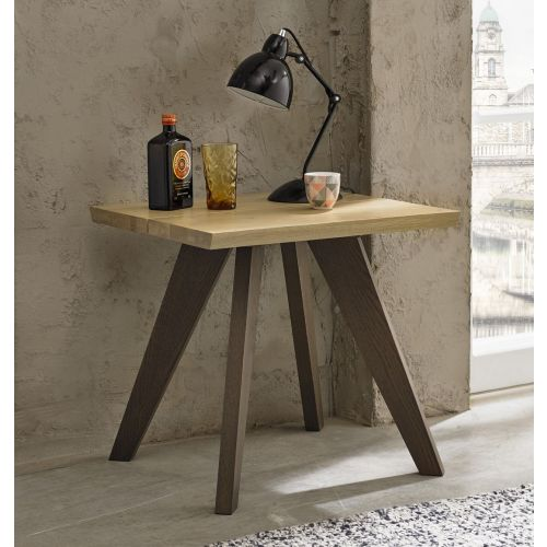 Cadell Aged & Weathered Oak Lamp Table - Cadell Furniture