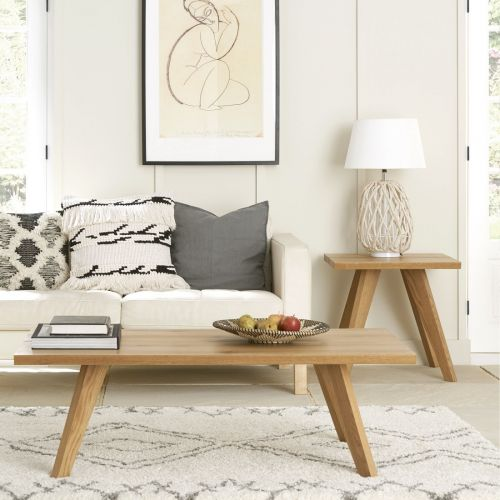 Cadell Rustic Oak Coffee Table - Cadell Furniture