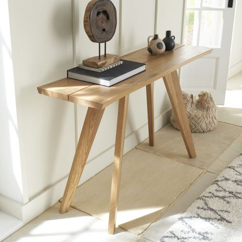 Cadell Rustic Oak Console Table - Cadell Furniture