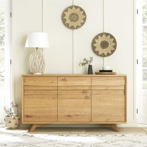Cadell Rustic Oak Large Sideboard - Cadell Furniture