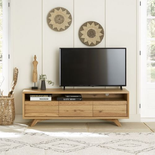 Cadell Rustic Oak Large TV Unit - Cadell Furniture