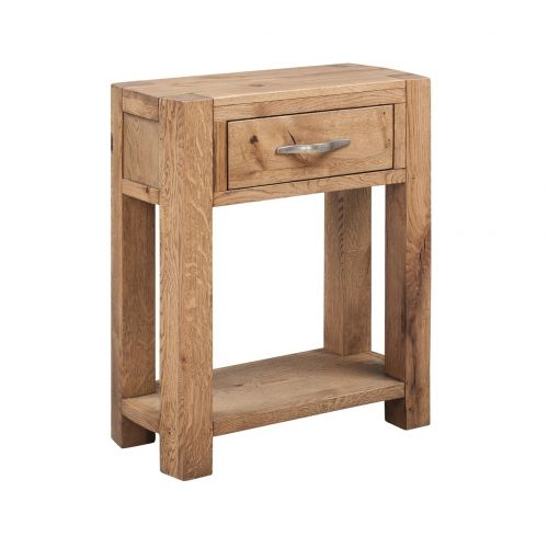 Como Rustic Oak 1 Drawer Console Table