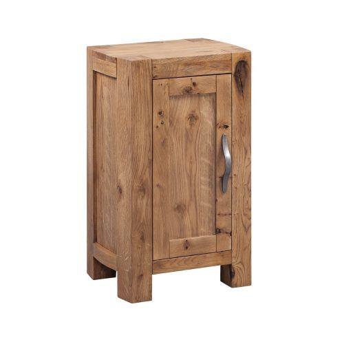 Como Rustic Oak 1 Door Cabinet