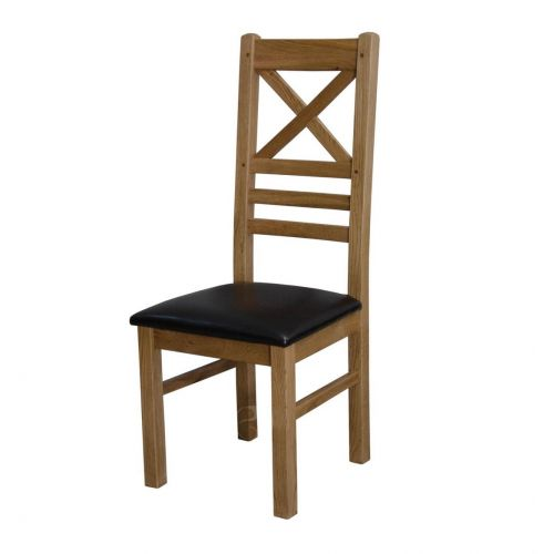 Coniston Rustic Solid Oak Cross Back Dining Chair