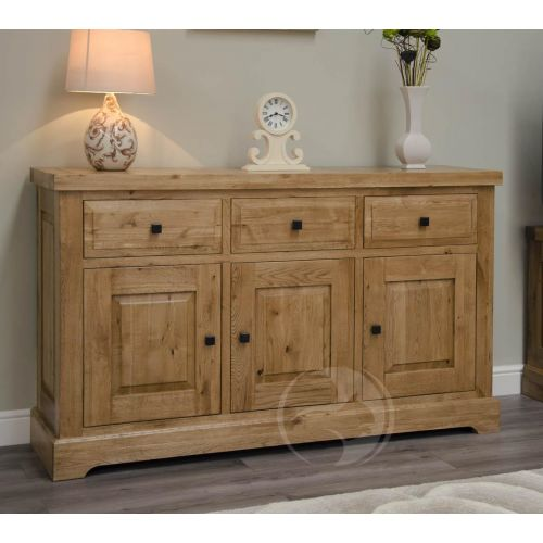 Coniston Rustic Solid Oak Large Sideboard