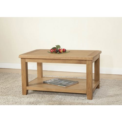 Cotswold Rustic Light Oak Coffee Table