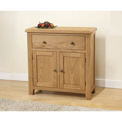 Cotswold Rustic Light Oak Compact Sideboard