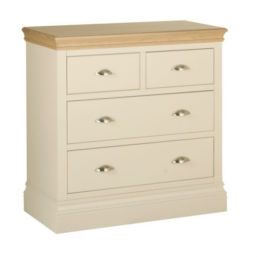 Country Oak and Painted 4 Drawer Chest