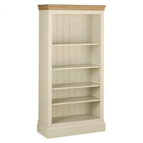 Country Oak and Painted 5ft Bookcase