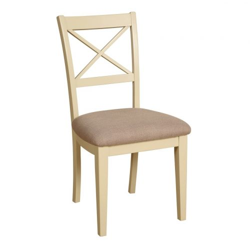 Country Oak and Painted Cross Back Dining Chair