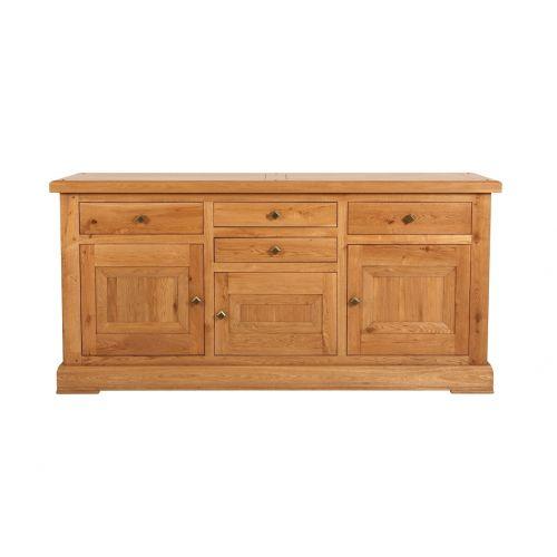 Country Solid Oak Large 3 Door Sideboard