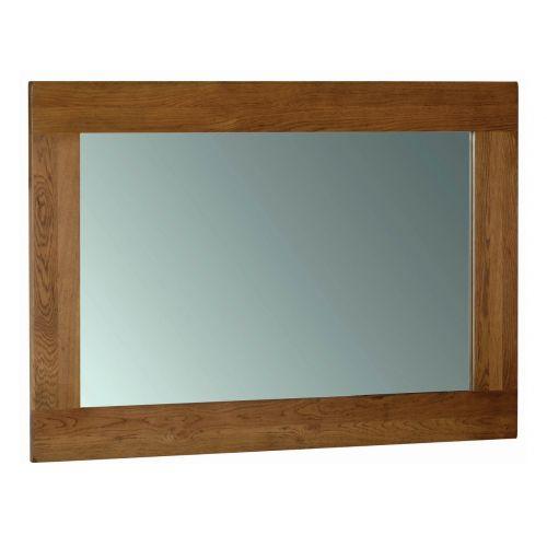 Edinburgh Rustic Oak 130 x 90cm Wall Mirror