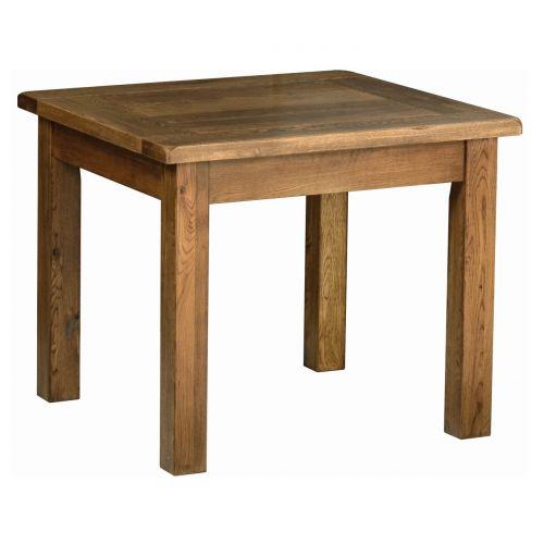 Edinburgh Rustic Oak 3' x 3' Fixed Top Dining Table