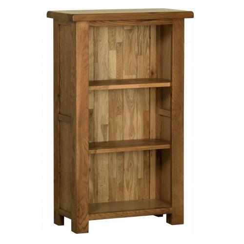Edinburgh Rustic Oak 3ft Narrow Bookcase