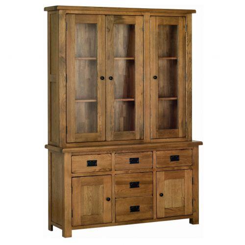 "Edinburgh Rustic Oak 4'6"" Welsh Dresser"