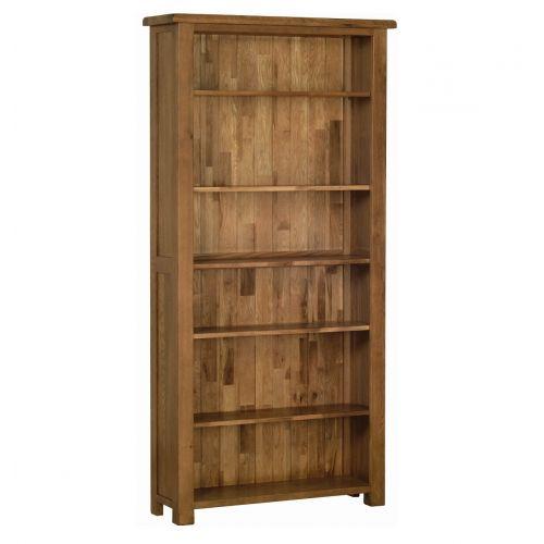 Edinburgh Rustic Oak 6ft Bookcase