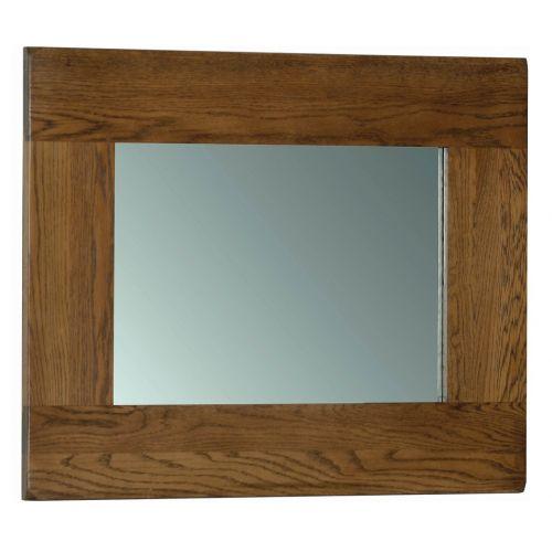 Edinburgh Rustic Oak 75 x 60cm Wall Mirror