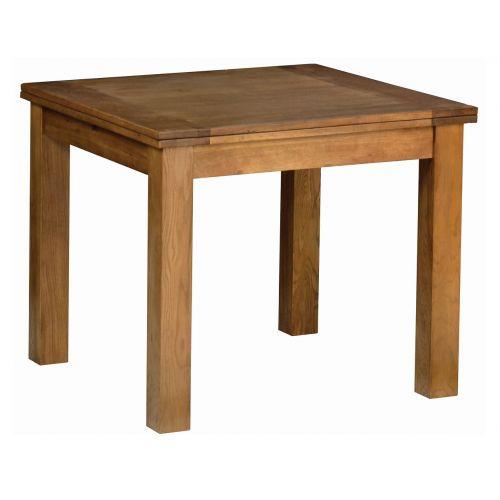 Edinburgh Rustic Oak Flip Top Extending Dining Table