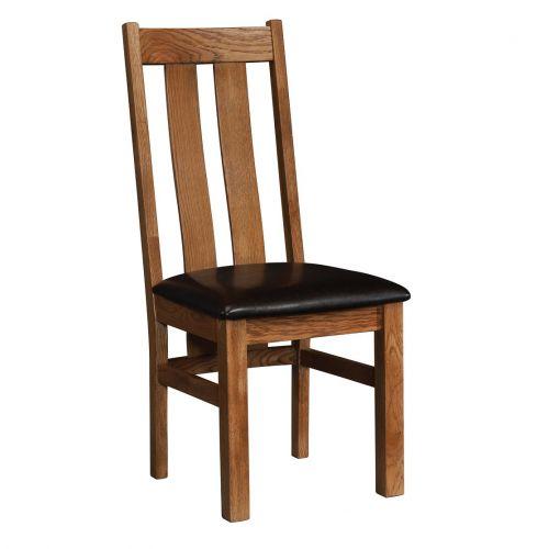 Edinburgh Rustic Oak Slat Back Dining Chair
