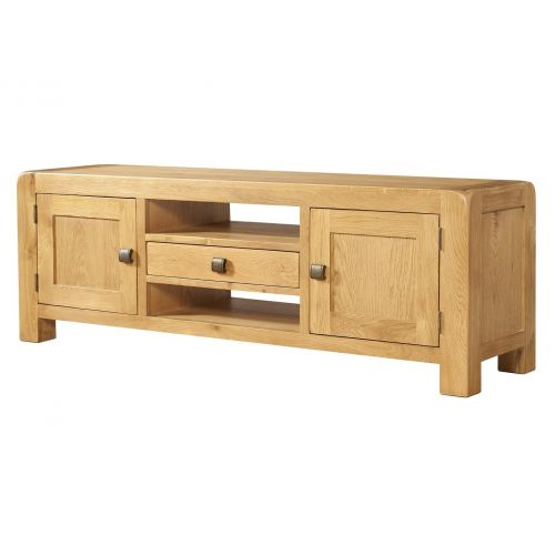 Fairfield Oak Wide TV Unit