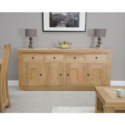 French Bordeaux Oak Extra Large 4 Door Sideboard
