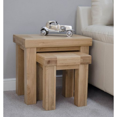 French Bordeaux Oak Nest of Tables