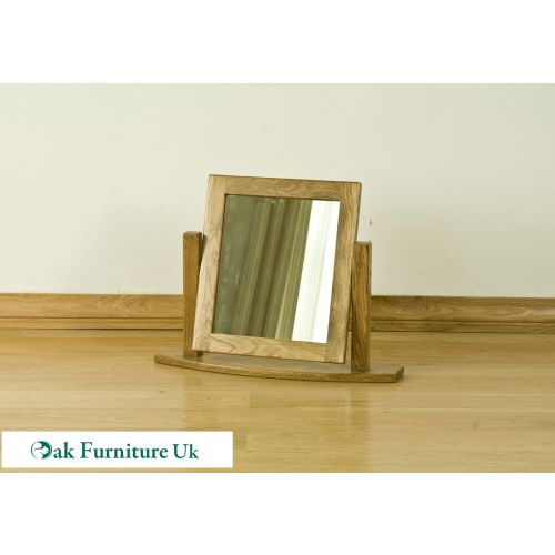 French Style Solid American White Oak Dressing Table Mirror