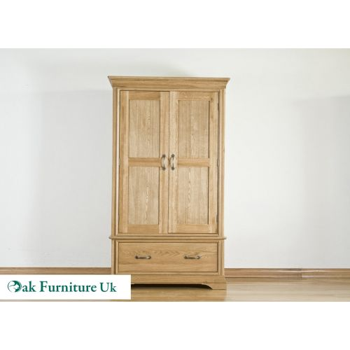 French Style Solid American White Oak Gents Wardrobe