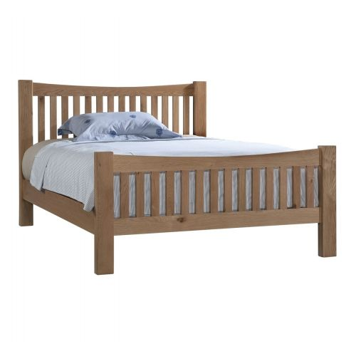 "Grasmere Light Oak 4ft6"" Double Bed"