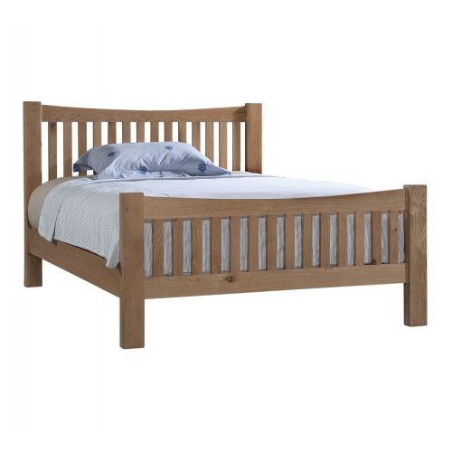 "Grasmere Light Oak 4ft6"" Double Bed"
