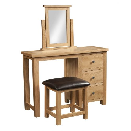 Grasmere Light Oak Dressing Table and Stool