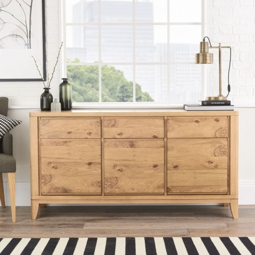 High Park Pippy Oak Large 3 Door Sideboard - High Park Furniture
