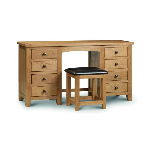 Kent Oak Double Pedestal Dressing Table
