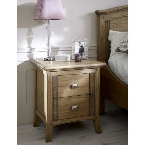 Lincoln Ash 2 Drawer Bedside Chest