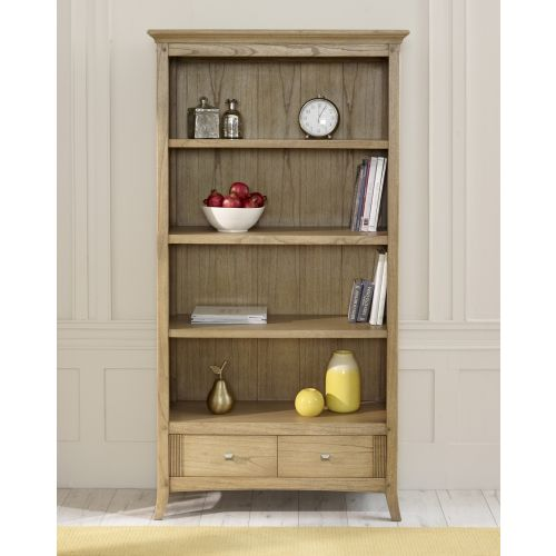 Lincoln Ash Tall Bookcase with Drawers