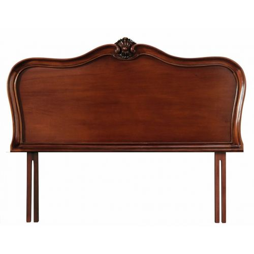 Louis French Mahogany 4' 6' Double Headboard