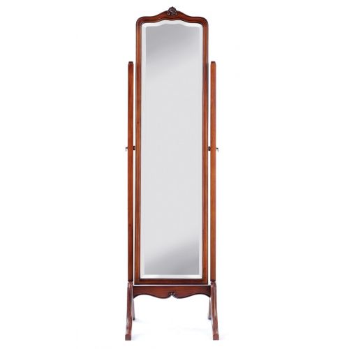 Louis French Mahogany Cheval Mirror