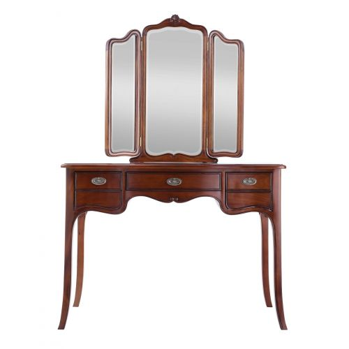 Louis French Mahogany Dressing Table with Mirror