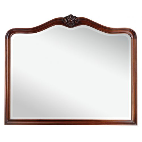 Louis French Mahogany Wall Mirror